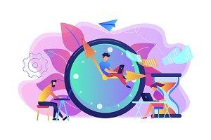 Deadline concept vector illustration