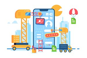 Mobile app building development