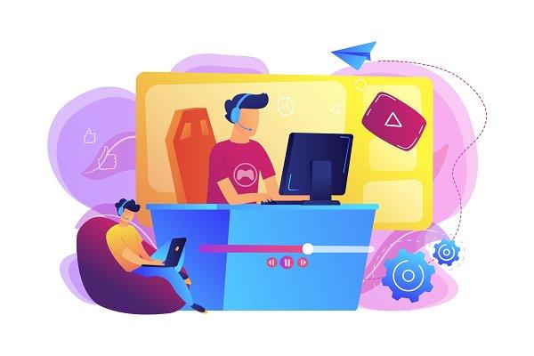 E-sport game streaming concept