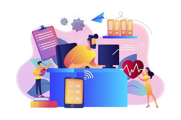 Health-focused IOT desks concept