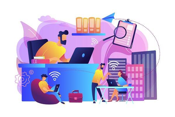 On-demand urban workspace concept