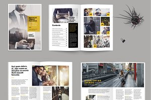 A4 business magazine template