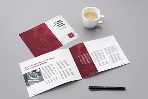A5 corporate brochure template
