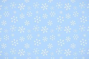 Grunge simple snowflakes pattern