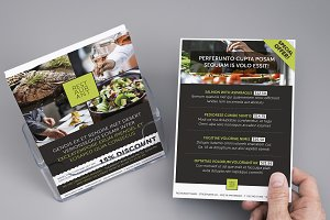 A5 restaurant flyer design template