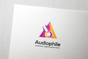 Audiophile Letter A Logo