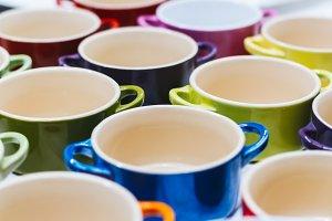 Colored pots