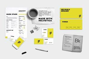Branding Kit + Mockup - Forge