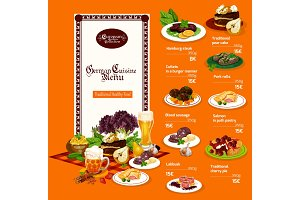 German cuisine dishes and drinks
