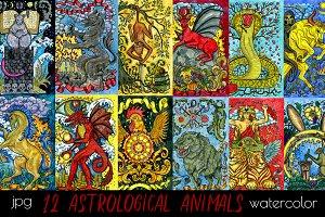 Colorful fantasy animals