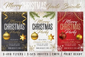 Christmas Holiday Invite Bundle Pack