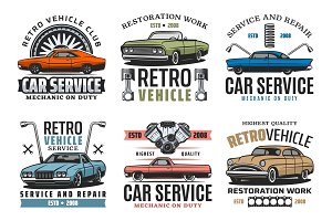 Turning car service, vehicles