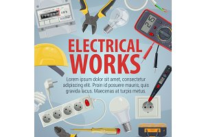 Electrician tools icons