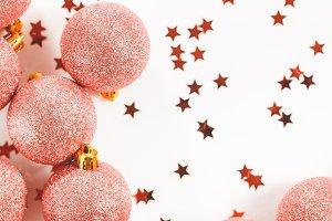 Glitter balls Christmas ornament