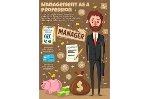 Manager, businessman, office clerk