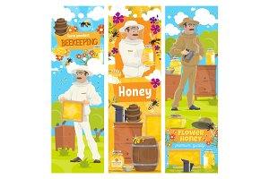 Beekeeping farm, beekeeper