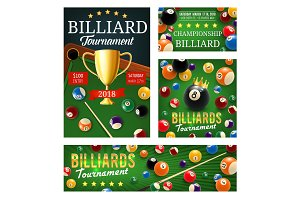Billiard or pool tournament