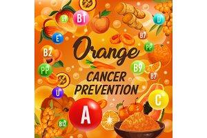 Vitamin color orange diet