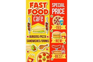 Fast food meals and drink
