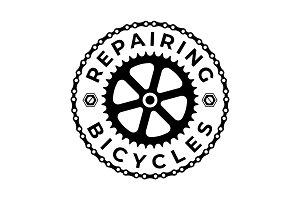 Repairing & Bicycle Logo Template