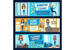 Household chores, housework cleaning