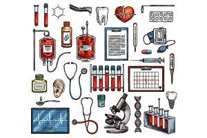 Medicine equipment and tools