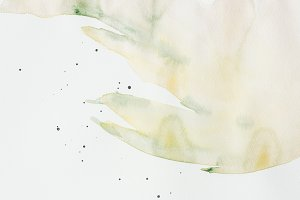 creative green watercolor painting o