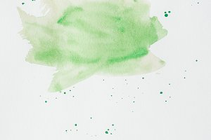 abstract green watercolor stroke on