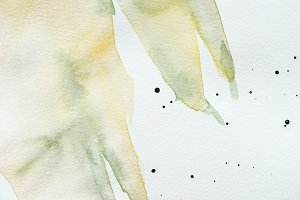abstract creative green watercolor p