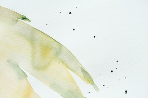 abstract green and yellow watercolor