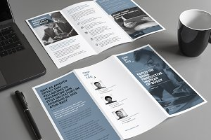 Corporate trifold flyer