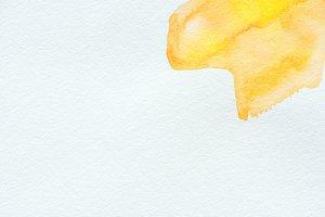 abstract yellow watercolor strokes o