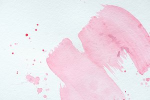 creative background with pink waterc