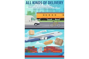Mail delivery by plane, ship, train