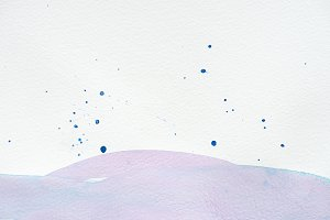 abstract violet watercolor painting