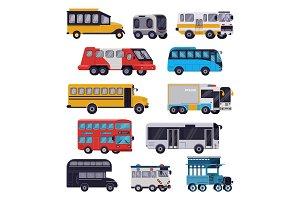 Bus vector public transport tour or