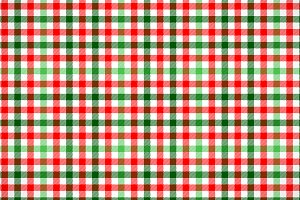 Red white and green tartan pattern