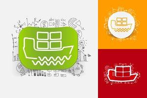 6 SHIP STICKERS-business formulas
