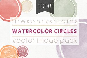 Vector Watercolor Circles