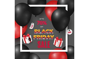 Black Friday Poster with Deals and