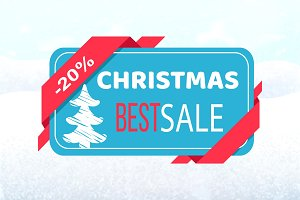 Christmas Best Sale Promo Tag