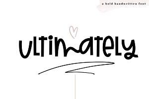Ultimately - A Bold Handwritten Font