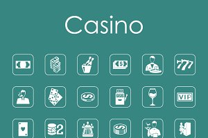 36 casino simple icons