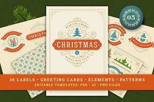 Christmas Retro Design Bundle
