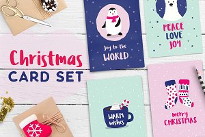 Cute Christmas Card Set
