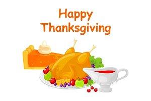 Happy Thanksgiving Day Turkey Dish
