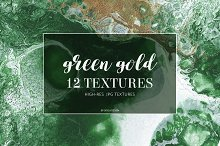 Green gold texture backgrounds