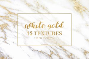White gold marble texture background