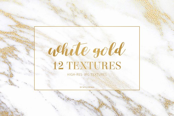White gold marble texture backgroun…