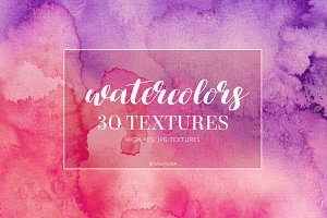 Colorful watercolor textures